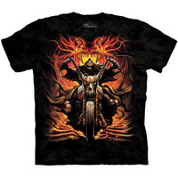 GRIM RIDER The Mountain Skull Reaper Motorcycle Bones Biker T-Shirt S-3XL NEW