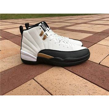 "Air Jordan 12 ""Chinese New Year"" while black Basketball Shoes 36-47"