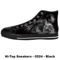 Awesome Custom Castiel Shoes Design - Supernatural Sneakers