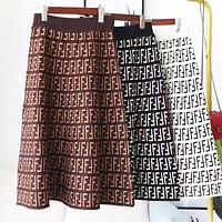 FENDI Fashion Women F Letter Letter Print Skirt
