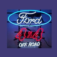 Ford 4X4 Off Road Real Neon Sign