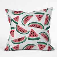 Zoe Wodarz Watermelon Wander Throw Pillow