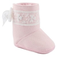 Wee Kids Suede Boot Crib Shoes - Baby Girl (Pink)