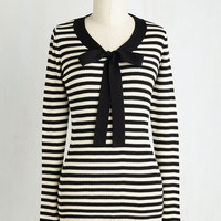 Nautical Mid-length Long Sleeve What's Avenue with You? Sweater