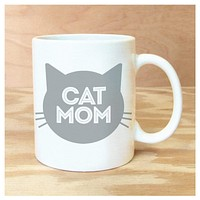 ROCK SCISSOR PAPER MUG CAT MOM