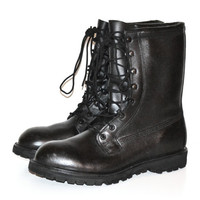 Vintage Men's Black Combat Boots Military Issue Combat Boots Size 12 Regular