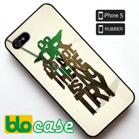 Star Wars Yoda Typography Iphone 5 Rubber Case