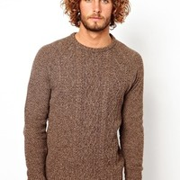 ASOS Cable Sweater - Brown