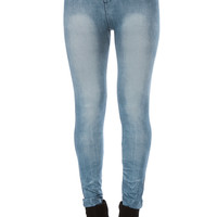 Washed out Denim Designed Leggings