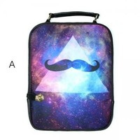 Cosmos Print Backpack by goodbuy on Zibbet