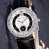 """Bvlgari"" High Quality Stylish Women Men Chic Quartz Watch Couple Wristwatch Black"