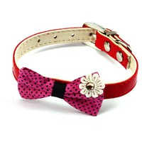 Dog Bowknot Adjustable Collar