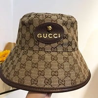 GUCCI G new fisherman hat with tiger head star summer sun shade basin hat Internet sensation
