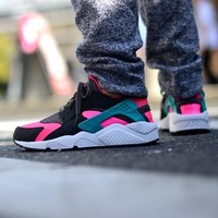 Best Online Sale Nike Air Huarache 1 Run Rainbow Ultra Breathe Men Women Black Pink Camouflage Running Sport Casual Shoes Sneakers - 931