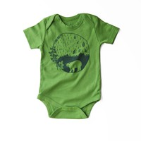 Atlantic Organic Baby Bodysuit in Green