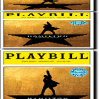 Hamilton Limited Edition Official Opening Night Playbill