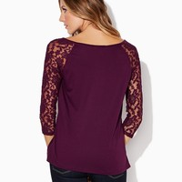 Polly Lace Sleeve Top | Fashion Apparel & Clothing | charming charlie