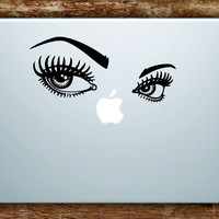 Girl Eyes V2 Laptop Decal Sticker Vinyl Art Quote Macbook Apple Decor Make Up Beautiful
