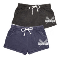 Lacrosse Distressed Shorts