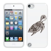 Fincibo (TM) Protector Cover Case Silicone Skin Soft TPU Gel For Apple iPod Touch 5 (5th Generation) - Cute Turtle
