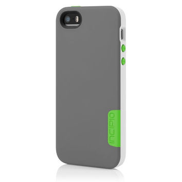 The Incipio Gray / White / Green Phenom™ Lightweight Case with Phenomenal Drop Protection for iPhone 5-5s