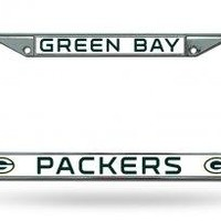 Green Bay Packers Chrome License Plate Frame