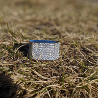 14k White Gold Micro Pave Iced Out Pinkie Ring