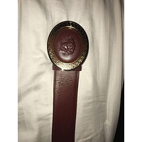 VERSACE OVAL MEDALLION VITELLO BELT