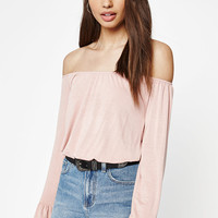 Kendall and Kylie Flounce Off-The-Shoulder Top at PacSun.com