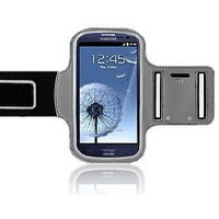 CrazyOnDigital ACTIVE Sport Armband Case for New Samsung Galaxy S3 (AT&T, T-Mobile, Sprint, Verizon) (Black-Silver)