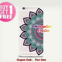 Mandala Clear Phone Case Cover , Crystal Clear iPhone 6 6s Case , Custom Clear iPhone 6 6s Case , Cool iPhone Case , Transparent Case