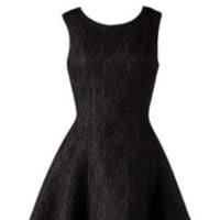 Black Flare Lace Cocktail Summer Dress
