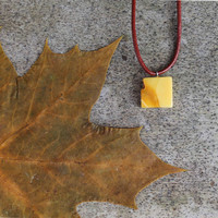 White Baltic Amber Charm Mens Pendant Milky Yellow White Unisex Jewlery Fall Fashion Organic Natural Gift for Him Man