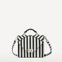 TWO-TONE STRIPED CROSSBODY BAGDETAILS