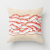PSYCH.. GUS FUNNY NAMES.. Throw Pillow by studiomarshallarts