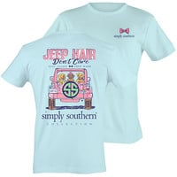 Simply Southern Preppy Jeep Hair Don't Care T-Shirt