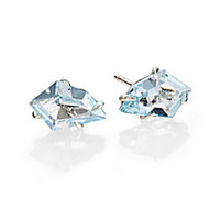Alexis Bittar Fine - Silver Lake Marquis Light Blue Topaz & Sterling Silver Kite Stud Earrings - Saks Fifth Avenue Mobile