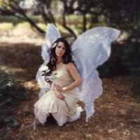 Huge Moonbeam White OPAL FAIRY WINGS Costume adult xl dress up goddess wicca angel gypsy steampunk wedding renaissance Gift Lover