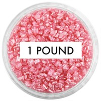 Pearly Rose Red Chunky Sugar 1 LB