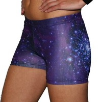 Galaxy Basic Shorts (Purple, 2.5 in. Adult S 4-6)