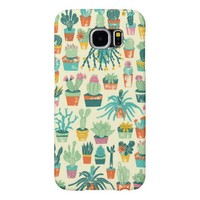Cactus Flower Pattern Samsung Galaxy S6 Cases