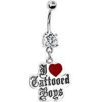I Love Tattooed Boys Belly Ring | Body Candy Body Jewelry