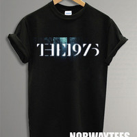Hot The 1975 Band Shirt The Bambo Tree Symbol Printed on White and Black t-Shirt For Men Or Women Size X 14