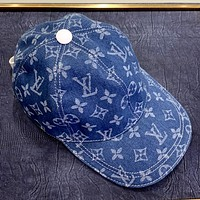 LV New Denim Embroidered Letter Baseball Cap for Men and Women
