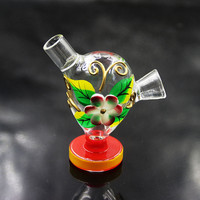 Colorful Mini Pipes The Martian Glass Twist Blunt Bong Bubbler Joint Smoking Bubble Small Water Pipe Small Pipes Hand Pipe