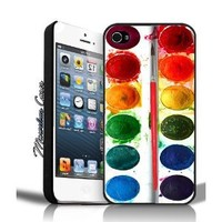 Dirty Watercolor Paint Set iPhone 4/4s Case By MC