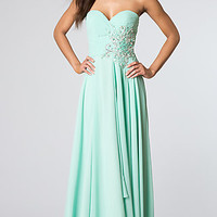 Strapless Prom Gown from JVN by Jovani
