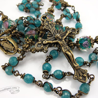 Brazil Amazonite Rosary first communion gift green rosary catholic gift confirmation rosary catholic rosaries unbreakable rosary ladies