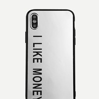 Letter Print Mirror iPhone Case