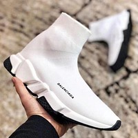 Wearwinds Balenciaga Classic Woman Men Stylish Breathable Sneakers Running Shoes White